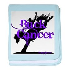 Buck Cancer baby blanket