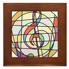 Cute Choir Framed Tile
