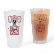 Think Pink Breast Cancer Awareness Mouse Drinking