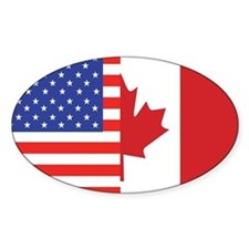 USA/Canada Oval Decal
