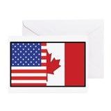 USA/Canada Greeting Cards (Pk of 10)