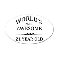 World's Most Awesome 21 Year Old Wall Decal