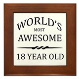 World's Most Awesome 18 Year Old Framed Tile
