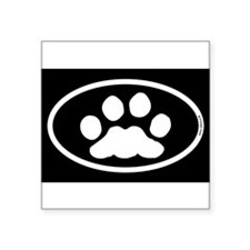 Black White Paw Sticker