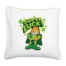 Super Lucky Garfield Square Canvas Pillow
