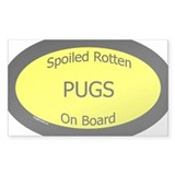 Spoiled Pugs On Board Oval Decal
