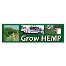 Grow Hemp Bumper Bumper Sticker