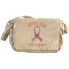 Personalized Infant Loss ribbon Messenger Bag