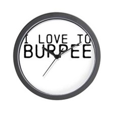 I love to Burpee Wall Clock