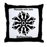 Reflexology Foot Circle Throw Pillow