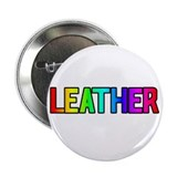 LEATHER RAINBOW TEXT Button