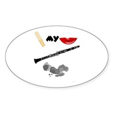 Reed My Lips Clarinet Rocks Oval Decal