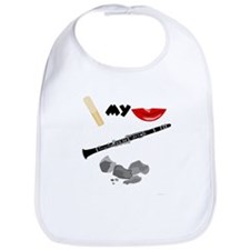Reed My Lips Clarinet Rocks Bib