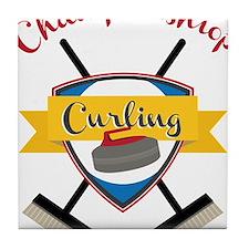 Championship Curling Tile Coaster