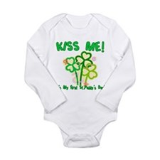 Kiss Me! Baby's First St. Pat Body Suit