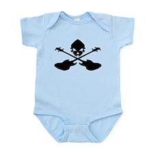 Skull and Bass Guitar Black Infant Bodysuit