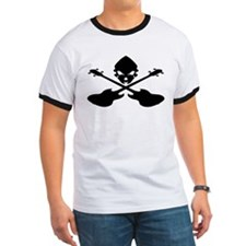 Skull and Bass Guitar Black T