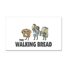 the walking bread Rectangle Car Magnet