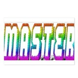 MASTER 3 RAINBOW TEXT Postcards (Package of 8)