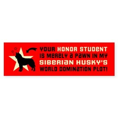 Siberian Husky World Domination Bumper Sticker Gt Siberian