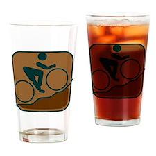 Mountainbike Drinking Glass