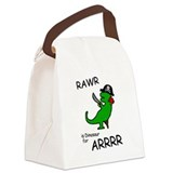 RAWR is Dinosaur for ARRR (Pirate Dinosaur) Canvas