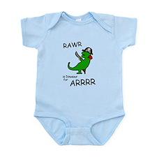 RAWR is Dinosaur for ARRR (Pirate Dinosaur) Body S