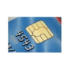 Credit card microchip - Rectangle Magnet