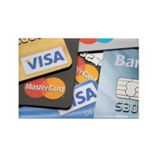 Credit cards - Rectangle Magnet