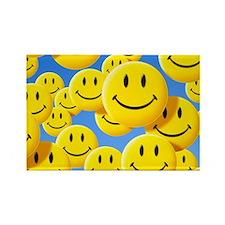 Smiley face symbols - Rectangle Magnet