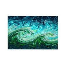 Storm waves, chaos model - Rectangle Magnet