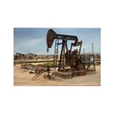 Oil pump in California - Rectangle Magnet