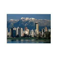 View of Vancouver, Canada - Rectangle Magnet