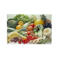 Fruits and vegetables - Rectangle Magnet