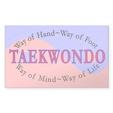 TKD Philosophy Rectangle Decal