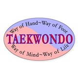 TKD Philosophy Oval Decal