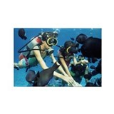 Child scuba divers - Rectangle Magnet