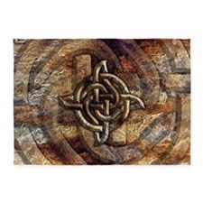 Celtic Rock Knot 5'x7'Area Rug