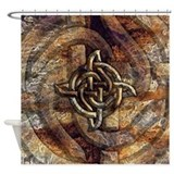 Celtic Rock Knot Shower Curtain