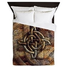 Celtic Rock Knot Queen Duvet Cover