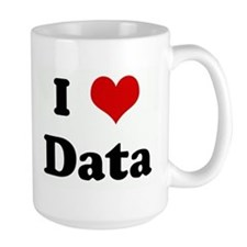 Cute I love data Mug