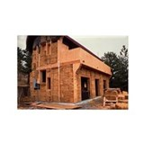 Straw bale house - Rectangle Magnet
