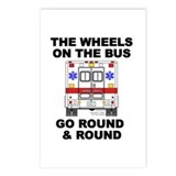 Ambulance Wheels Go Round Postcards (Package of 8)