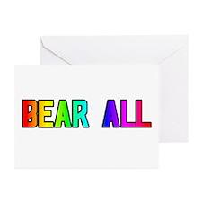 BEAR ALL/GO AHEAD RAINBOWTEXTGreetingCards(Packof6
