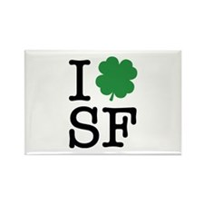I Shamrock SF Rectangle Magnet (10 pack)