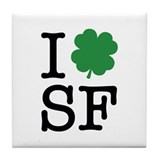I Shamrock SF Tile Coaster