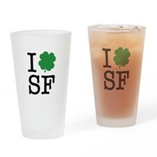 I Shamrock SF Drinking Glass