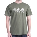 See Hear Speak No Evil Black T-Shirt