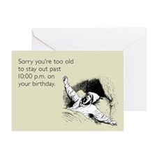 Too Old for Your Birthday Greeting Card