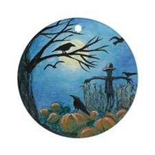 When Scarecrows Sleep... Ornament (Round)